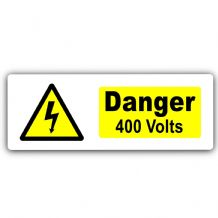 Danger 400 Volts-WITH IMAGE-Aluminium Metal Sign-Door,Notice,Health,Safety,Electricity,Current,Volts